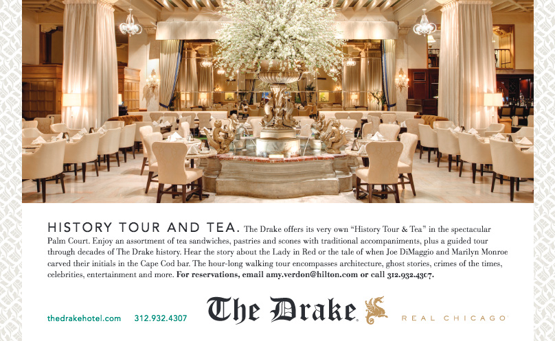 4513b10d6f ... includes a hotel walking tour and tales of The Drake recounted during  traditional Afternoon Tea (complete with tea sandwiches, pastries and  scones) in ...
