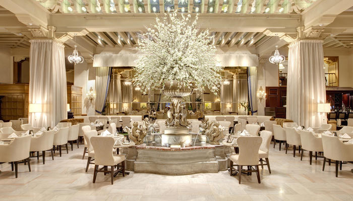 Palm Court Dining At The Drake Hotel Chicago